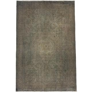 Ecarpetgallery Hand-knotted Anatolian Overdyed Grey Wool Rug (6'4 x 9'6)