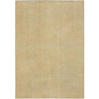 Ecarpetgallery Hand-knotted Anatolian Sunwash Yellow Wool Rug (6'10 x 9'7)