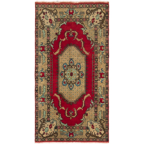 Ecarpetgallery Hand-knotted Konya Anatolian Red Wool Rug (5'2 x 9'9)