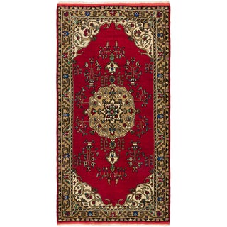 Ecarpetgallery Hand-knotted Konya Anatolian Red Wool Rug (5'1 x 9'11)