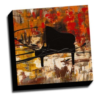 Piano Tune 16x16 Music Art Printed on Ready to Hang Framed Stretched Canvas