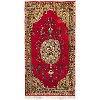 Ecarpetgallery Hand-knotted Konya Anatolian Red Wool Rug (5'2 x 9'7)