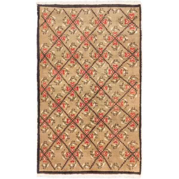 Ecarpetgallery Hand-knotted Keisari Vintage Beige Wool Rug (5'1 x 8'4)