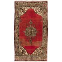 Ecarpetgallery Hand-knotted Konya Anatolian Red Wool Rug (5'4 x 9'2)