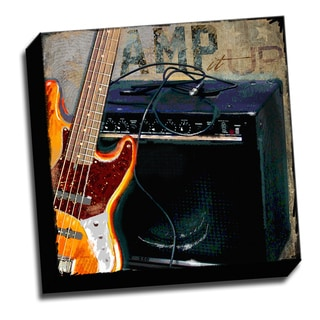 Guitar Amp 16x16 Music Art Printed on Ready to Hang Framed Stretched Canvas