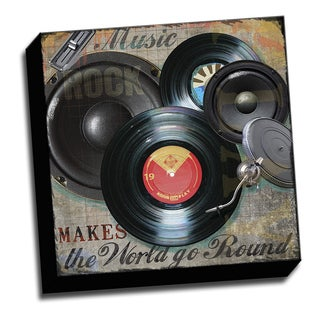Dj Album 16x16 Music Art Printed on Ready to Hang Framed Stretched Canvas
