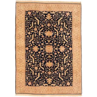 Ecarpetgallery Hand-knotted Ushak Blue Wool Rug (6'1 x 8'6)