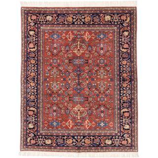 Ecarpetgallery Hand-knotted Keisari Vintage Brown Wool Rug (6'8 x 8'2)