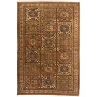 Ecarpetgallery Hand-knotted Keisari Vintage Brown Wool Rug - 6'6 x 9'9