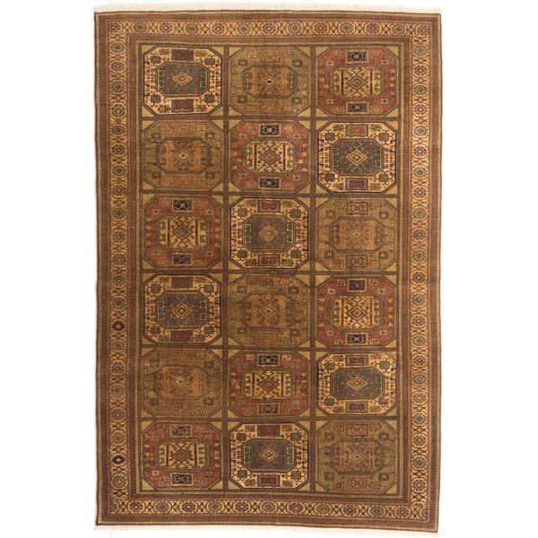Ecarpetgallery Hand-knotted Keisari Vintage Brown Wool Rug (6'6 x 9'9)