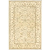 Ecarpetgallery Hand-knotted Peshawar Oushak Beige and Yellow Wool Rug (6'3 x 9'3)
