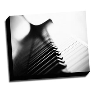 Piano Macro Photo 16x20 Music Art Printed on Framed Ready to Hang Canvas