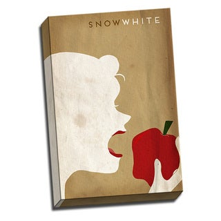 Snow White Fairy Tales 16x24 Kids Printed on Framed Ready to Hang Canvas