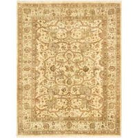 Ecarpetgallery Hand-knotted Jamshidpour Beige and Green Wool Rug (7'10 x 10')