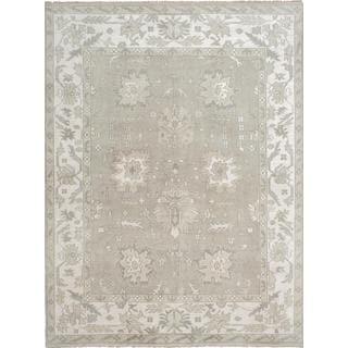 Ecarpetgallery Hand-Knotted Ushak Green Wool Rug (8'11 x 12')