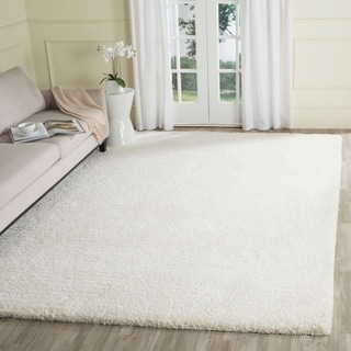 Safavieh Hand-Tufted Ultimate Shag Ivory Polyester Rug (8' x 10')