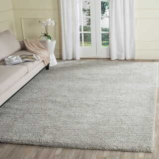 Safavieh Handmade Ultimate Shag Silver/ Silver Polyester Rug (8' x 10')