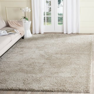 Safavieh Hand-Tufted Ultimate Shag Sand/ Ivory Polyester Rug (8' x 10')