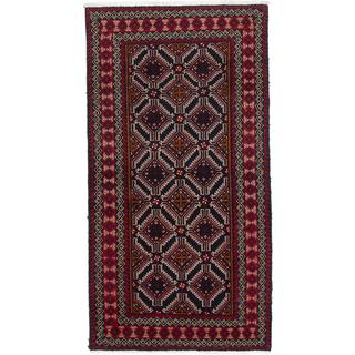 Ecarpetgallery Hand-Knotted Persian Finest Baluch Blue Wool Rug (3'5 x 6'6)
