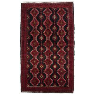 Ecarpetgallery Hand-Knotted Persian Finest Baluch Black and Brown Wool Rug (3'7 x 6'1)