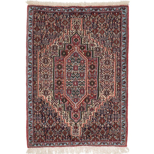 Shop Beige Wool Hand Knotted Oriental Persian Area Rug 6: Shop Ecarpetgallery Hand-Knotted Persian Senneh Beige And