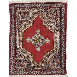 Ecarpetgallery Hand-Knotted Persian Senneh Red Wool Rug (2'5 x 3')