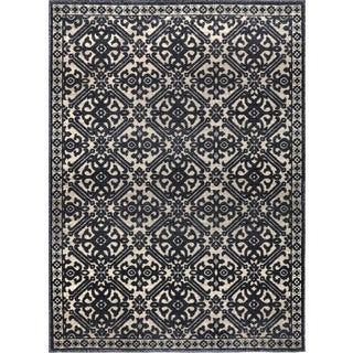 Home Dynamix Fresco Collection Gray (7'10 X 10'4) Machine Made Polypropylene Area Rug