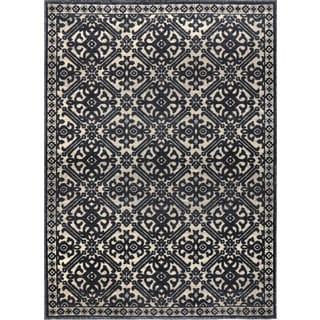 Home Dynamix Fresco Collection Gray (7'10 X 10'4) Machine Made Polypropylene Area Rug