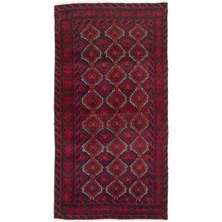 Ecarpetgallery Hand-Knotted Persian Finest Baluch Red Wool Rug (3'2 x 6')