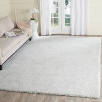 Safavieh Handmade Ultimate Shag Silver/ Ivory Polyester Rug - 8' x 10'