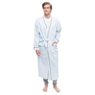 Men's Twilight Blue Full Sleeve Kimono Robe