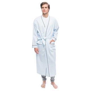Men's Twilight Blue Full Sleeve Kimono Robe