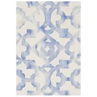 Safavieh Handmade Dip Dye Watercolor Vintage Ivory/ Blue Wool Rug - 2' x 3'