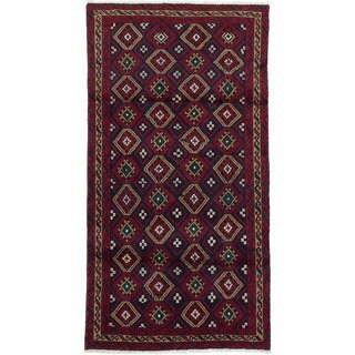 Ecarpetgallery Hand-Knotted Persian Classic Persian Blue Wool Rug (3'1 x 5'10)