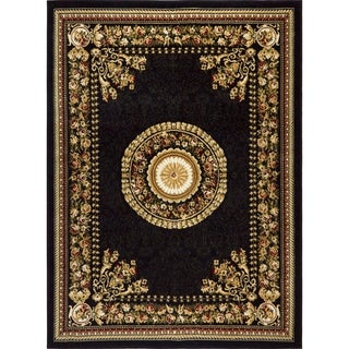 "Home Dynamix Optimum Collection Black (3'7"" X 5'2"") Machine Made Polypropylene Area Rug"