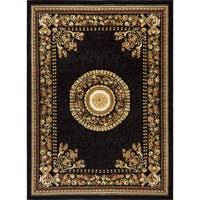 Home Dynamix Optimum Collection Black Machine Made Polypropylene Area Rug - 3'7 X 5'2