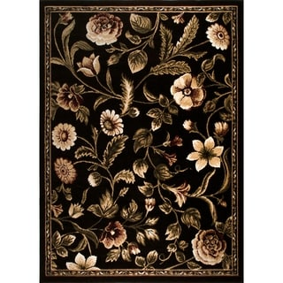 "Home Dynamix Optimum Collection Contemporary Black Area Rug (3'7X5'2"")"