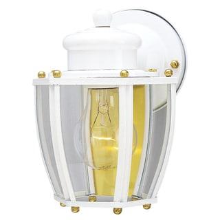 Westinghouse 6696200 White One Light Exterior Wall Lantern