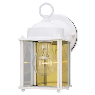 Westinghouse outdoor lighting for less overstock westinghouse 6697100 white outdoor light fixture aloadofball Image collections