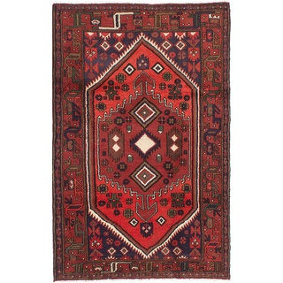 Ecarpetgallery Hand-Knotted Persian Koliai Red Wool Rug (4'1 x 6'6)