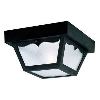 Westinghouse 6682200 Black Square One-Light Ceiling Porch Light