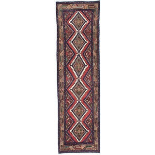 Ecarpetgallery Hand-Knotted Persian Koliai Beige and Brown Wool Rug (2'7 x 9'2)