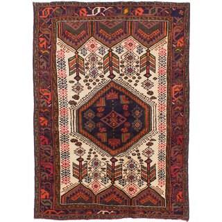 Ecarpetgallery Hand-Knotted Persian Koliai Beige Wool Rug (4' x 6'1)