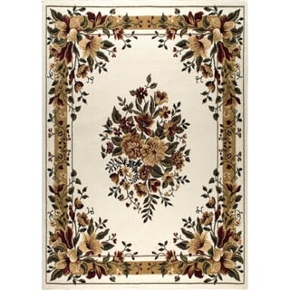 "Home Dynamix Optimum Collection Ivory (21"" X 35"") Machine Made Polypropylene Accent Rug"