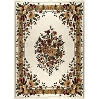 "Home Dynamix Optimum Collection Ivory Machine Made Polypropylene Accent Rug - 1'9"" x 2'10"""
