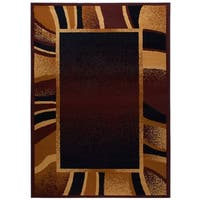 "Home Dynamix Premium Collection Contemporary Brown Area Rug  (3'7X5'2"") - 3'11"" x 5'3"""