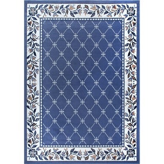 "Home Dynamix Premium Collection Country Blue (3'7"" X 5'2"") Machine Made Polypropylene Area Rug"