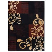 """Home Dynamix Premium Collection Contemporary Ebony Accent Rug (21"""" X 35"""") - 2' x 3'"""