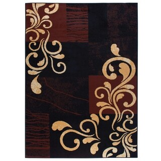 "Home Dynamix Premium Collection Contemporary Ebony Accent Rug (21"" X 35"")"