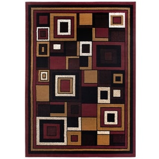 "Home Dynamix Premium Collection Contemporary Red Accent Rug (21"" X 35"")"